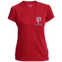 "Women's Punisher Logo ""God Found Strongest Women and Made them Police Officers"" Athletic Shirt T-Shirts CustomCat True Red X-Small"