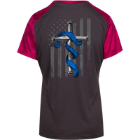 Proto LST371 Sport-Tek Ladies' CamoHex Colorblock T-Shirt T-Shirts CustomCat