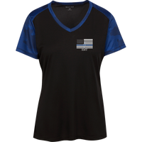 Women's Thin White Line EMT Athletic Shirt T-Shirts Black/True Royal X-Small