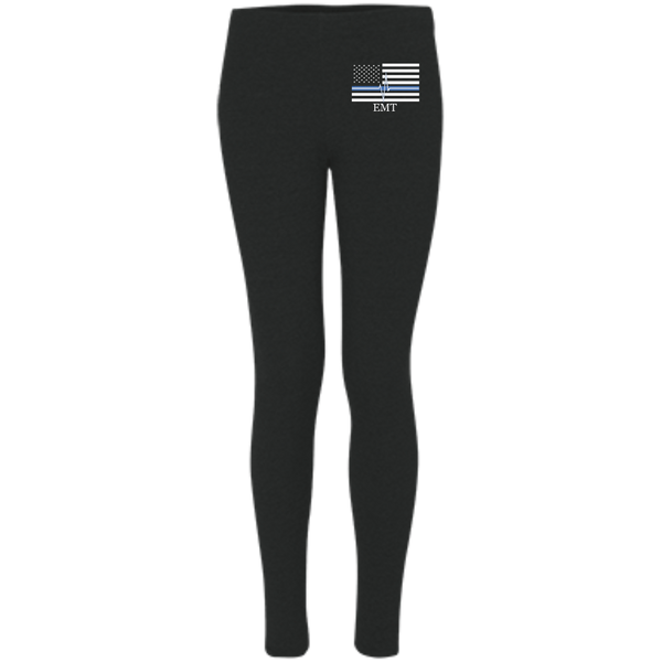 Women's Thin White Line EMT Leggings Pants Black X-Small