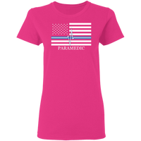 Women's Thin White Line Paramedic T-Shirt T-Shirts Heliconia S