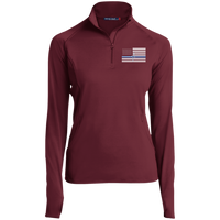 Women's Thin White Line Performance Pullover Pullover Maroon X-Small