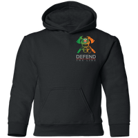 Youth Double Sided Irish by Blood Firefighter Hoodie Sweatshirts Black YS