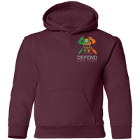 Youth Double Sided Irish by Blood Firefighter Hoodie Sweatshirts Maroon YS
