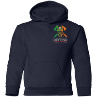 Youth Double Sided Irish by Blood Firefighter Hoodie Sweatshirts Navy YS