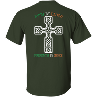 Youth Double Sided Irish by Blood Firefighter T-Shirt T-Shirts
