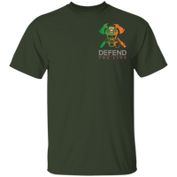 Youth Double Sided Irish by Blood Firefighter T-Shirt T-Shirts Forest YXS