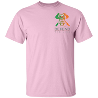 Youth Double Sided Irish by Blood Firefighter T-Shirt T-Shirts Light Pink YXS