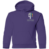 Youth Double Sided Irish by Blood Punisher Hoodie Sweatshirts Purple YS