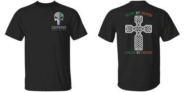 Youth Double Sided Irish by Blood Punisher T-Shirt T-Shirts
