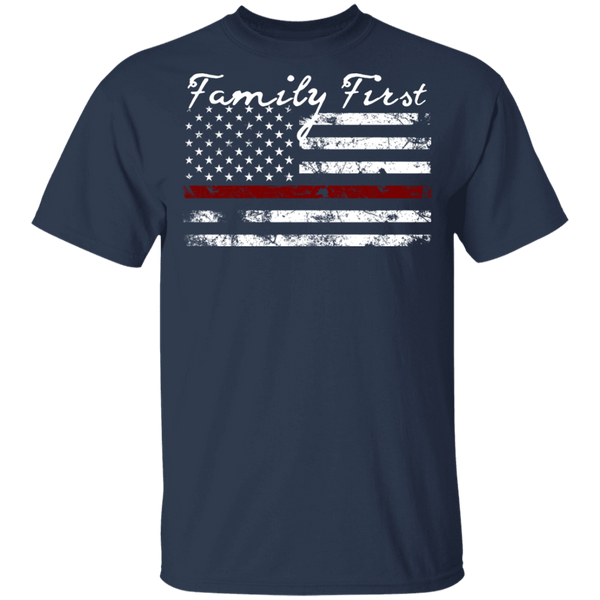 Youth Family First Thin Red Line T-Shirt T-Shirts Navy YXS