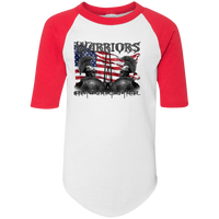 Youth Warriors Colorblock Raglan Shirt T-Shirts White/Red YS