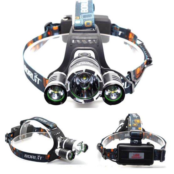 Rechargeable 10,000 Lumen LED Waterproof Headlamp Torch