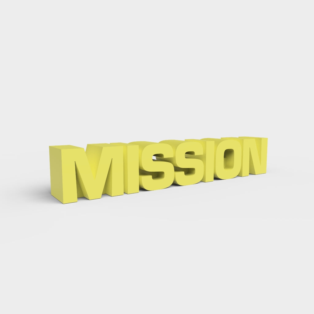 MISSION Logo - 3D Printable Model