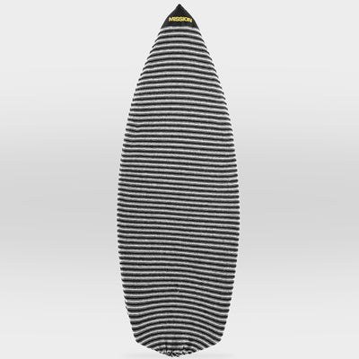 Black and White Classic Point Nose MISSION Wakesurf Board Sock