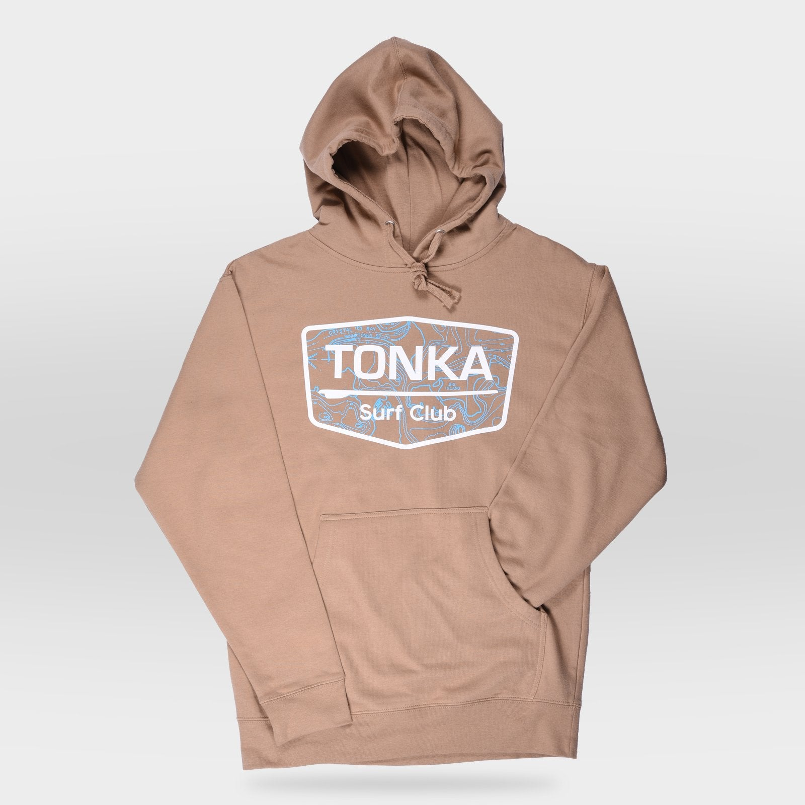 Light Brown Men's TONKA Surf Club Hoodie Sweatshirt
