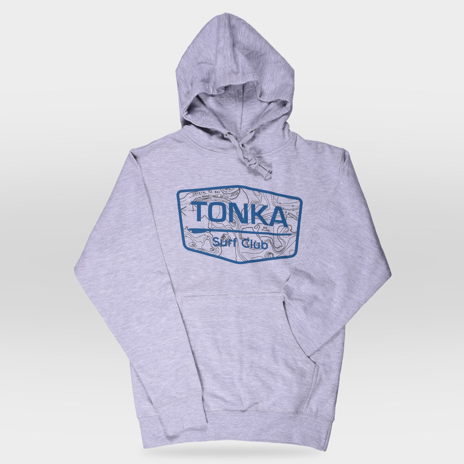 Light gray Light Brown Men's TONKA Surf Club Hoodie Sweatshirt