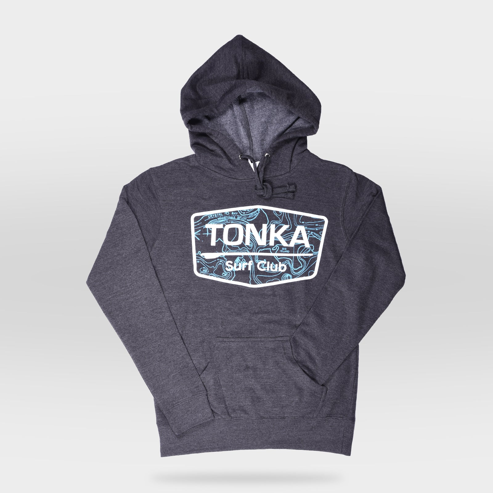 Charcoal Women's TONKA Surf Club Hoodie Sweatshirt