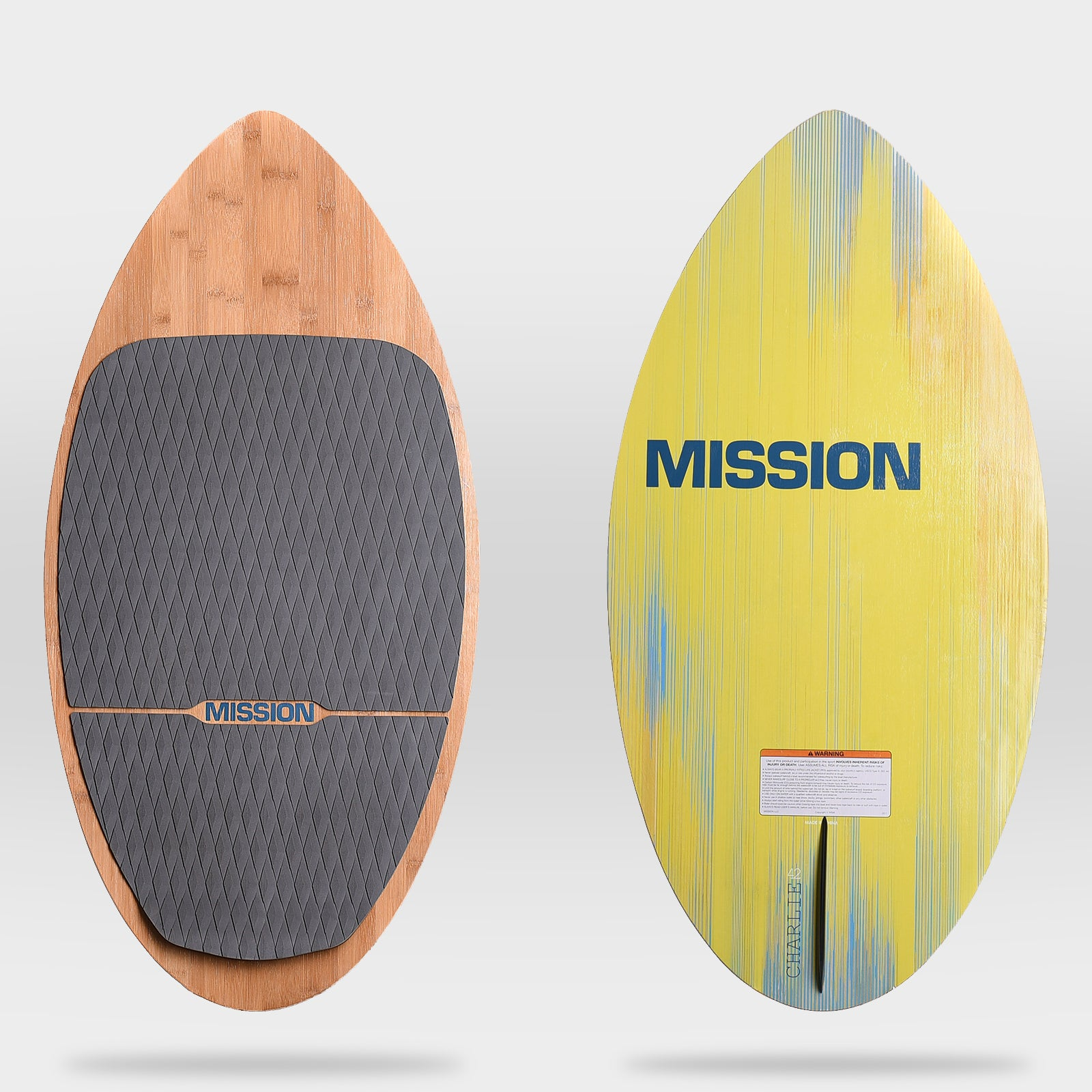 MISSION CHARLIE Skim-style wake surf board