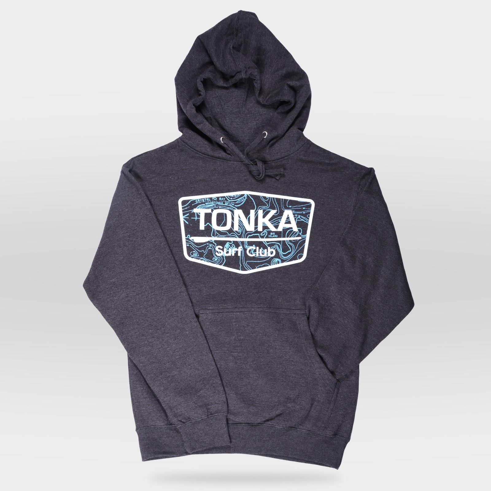 Charcoal Men's TONKA Surf Club Hoodie Sweatshirt