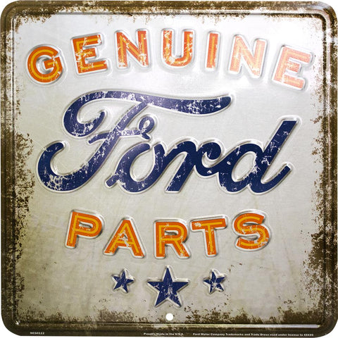 Genuine Ford Parts Rustic Tin Sign-Mr Revhead