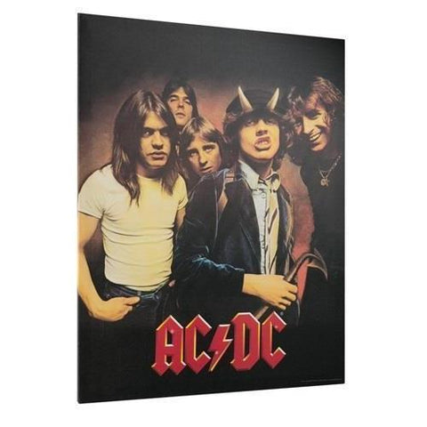 ACDC Highway To Hell Wall Canvas AC/DC-mightymoo