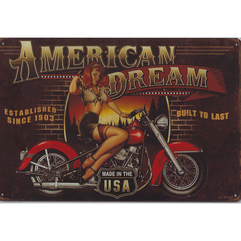 American Dream Tin Sign-Mr Revhead