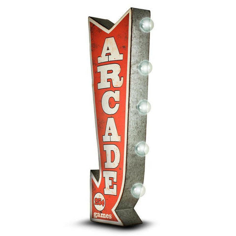Arcade Arrow Double Sided LED Light Sign-Mr Revhead
