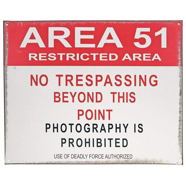 Area 51 Tin Sign-Mr Revhead