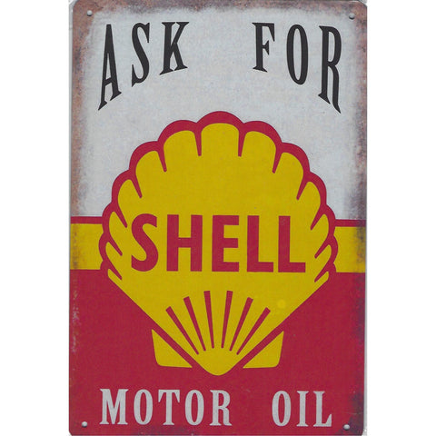 Ask For Shell Tin Sign-Mr Revhead