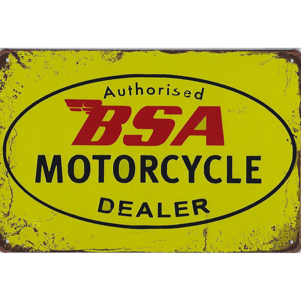 Authorised BSA Motorcycle Dealer Tin Sign-Mr Revhead