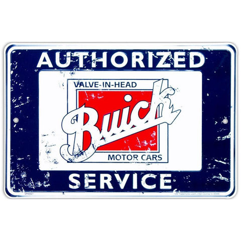 Authorized Buick Service Tin Sign-Mr Revhead