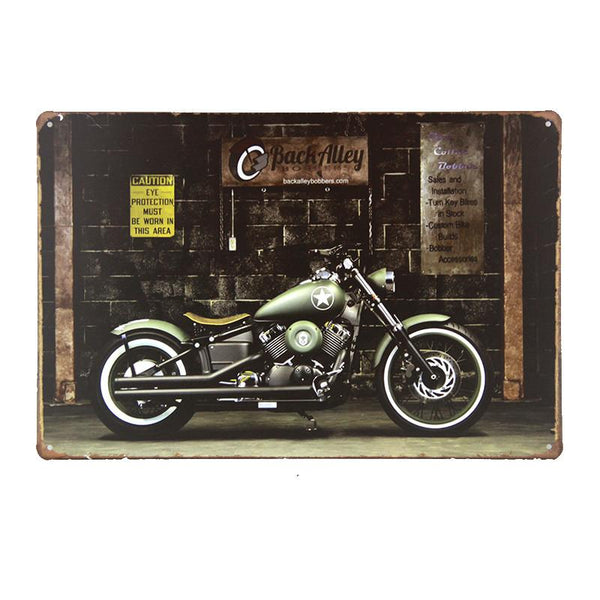 Back Alley Motorcycle Tin Sign-Mr Revhead