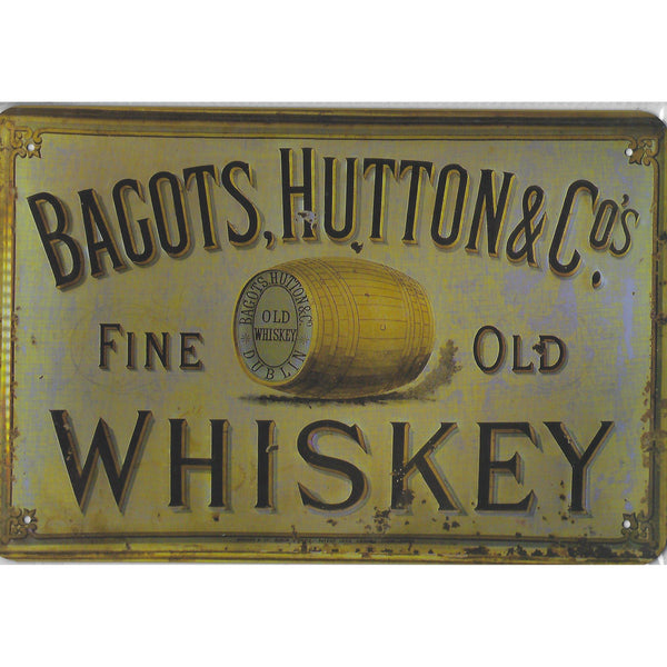 Bagots Whiskey Tin Sign-Mr Revhead