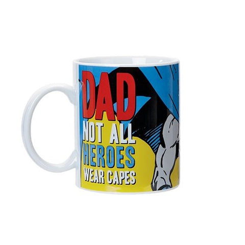 Batman Mug- Dad Not All Heroes Wear Capes-mightymoo