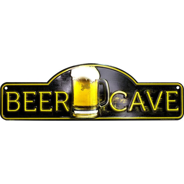 Beer Cave Tin Sign-Mr Revhead