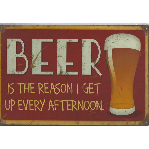Beer Is The Reason Tin Sign-Mr Revhead
