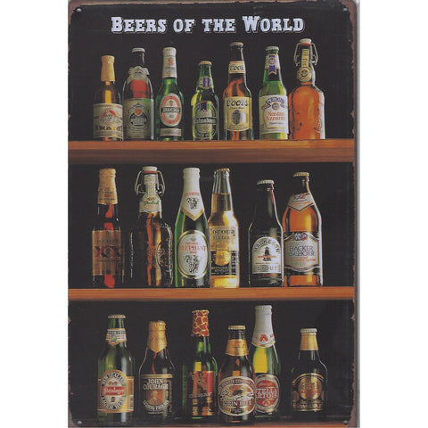 Beers Of The World Tin Sign-Mr Revhead