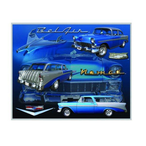 Belair '56 Nomad Chevy Tin Sign-Mr Revhead