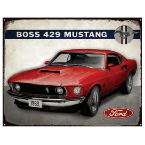 Boss 429 Ford Mustang Tin Sign-Mr Revhead