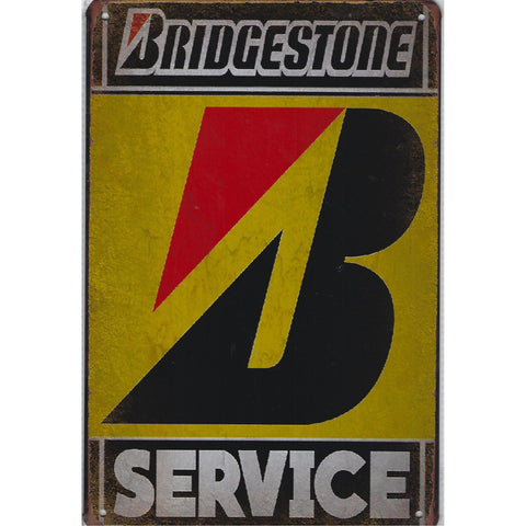 Bridgestone Service Tin Sign-Mr Revhead