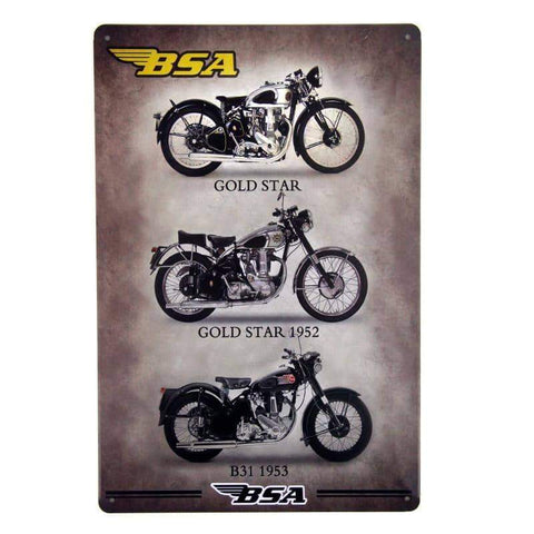 BSA Collection Tin Sign-mightymoo