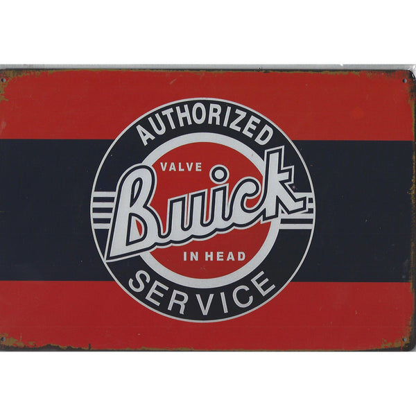 Buick Authorized Service Tin Sign-Mr Revhead