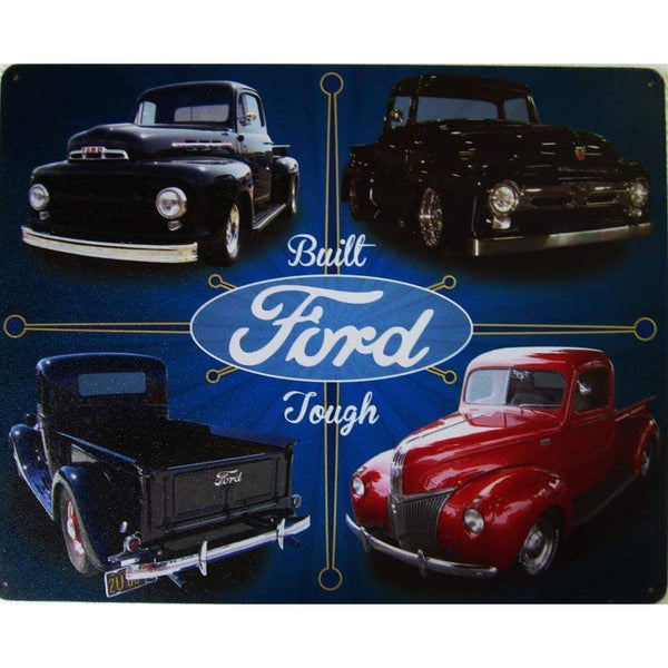 Built Ford Tough Tin Sign-Mr Revhead