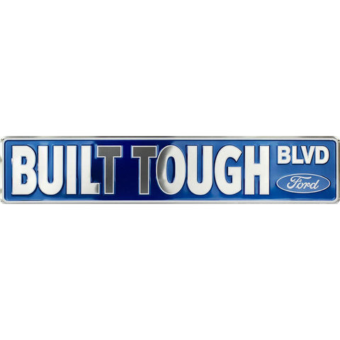Built Tough Ford Boulevard Tin Sign-Mr Revhead