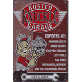 Busted Knuckle Garage Tin Sign-Mr Revhead