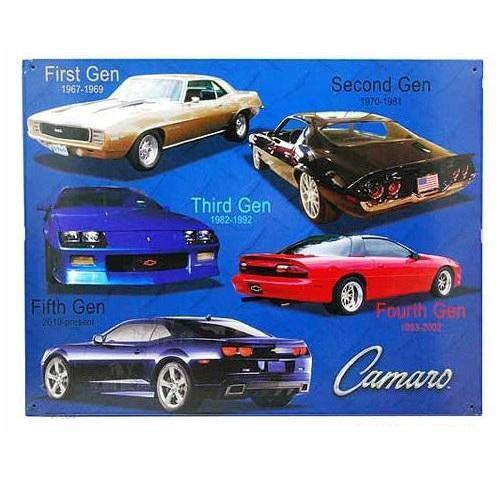 Camaro Tin Sign-Mr Revhead