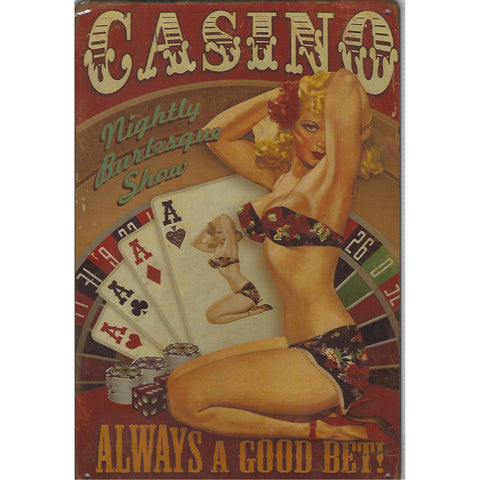 Casino Tin Sign-Mr Revhead
