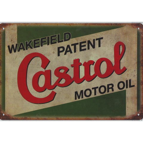 Castrol Motor Oil Tin Sign-Mr Revhead