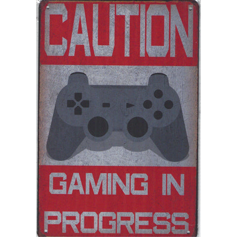 Caution Gaming Tin Sign-Mr Revhead